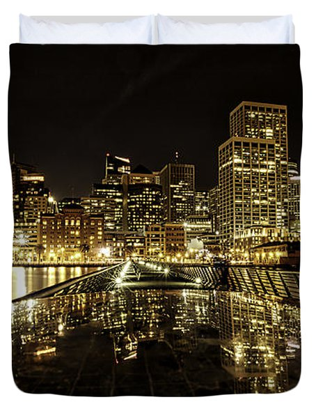 San Francisco Skyline Duvet Cover