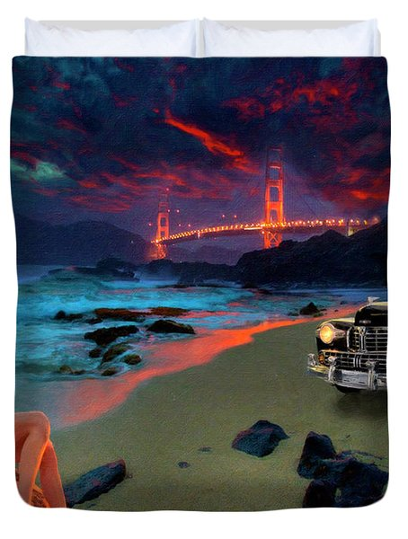 San Francisco Sunrise Duvet Cover