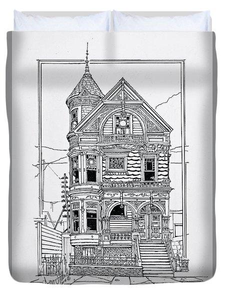 San Francisco Victorians  Duvet Cover