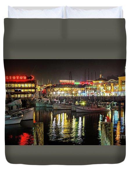 San Francisco's Fisherman's Wharf Duvet Cover