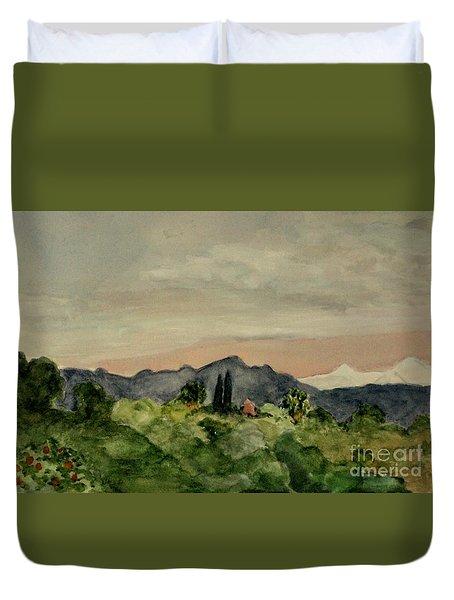 San Gabriel Mountains Duvet Cover
