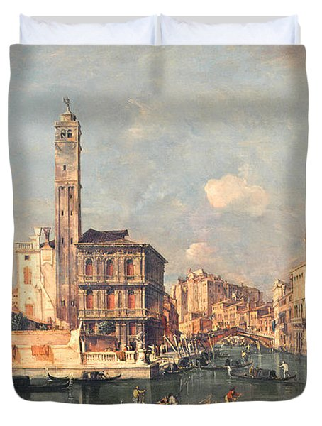 San Geremia And The Entrance To The Canneregio Duvet Cover by Francesco Guardi