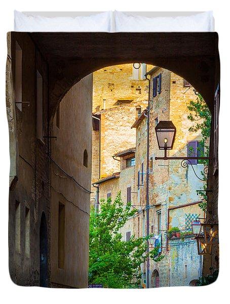 San Gimignano Archway Duvet Cover