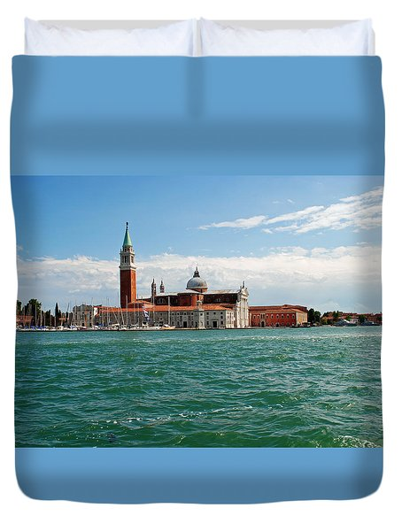 Duvet Cover featuring the photograph San Giorgio Maggiore Canal Shot by Robert Moss
