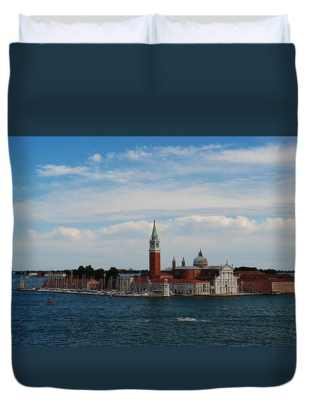 Duvet Cover featuring the photograph San Giorgio Maggiore by Robert  Moss