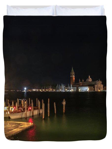 San Giorgio Maggiori At Night Duvet Cover