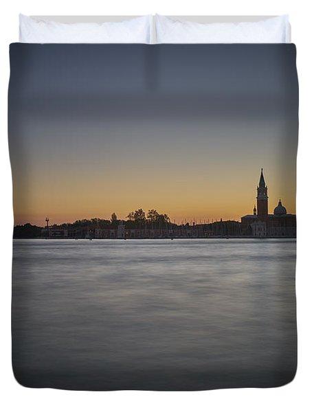 San Giorgio Sunset 0933 Duvet Cover