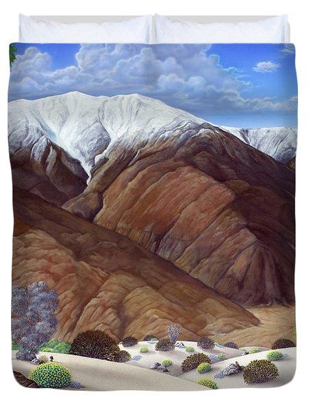 Snow Creek  Duvet Cover