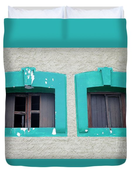 San Jose Del Cabo Windows 13 Duvet Cover by Randall Weidner