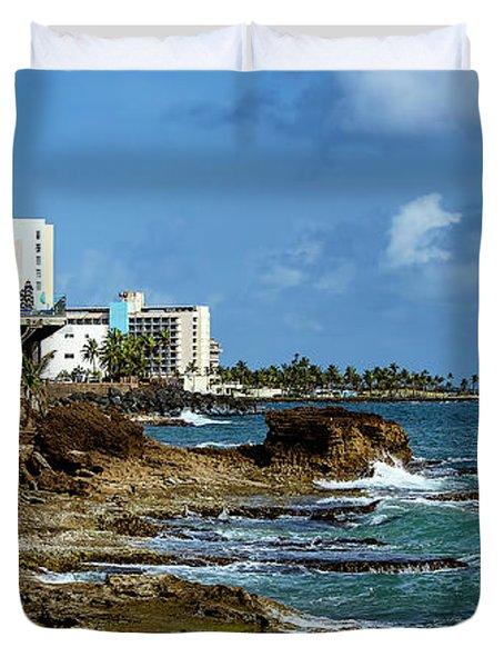 San Juan Bay In Puerto Rico Duvet Cover
