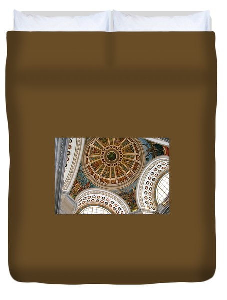 San Juan Capital Building Ceiling Duvet Cover
