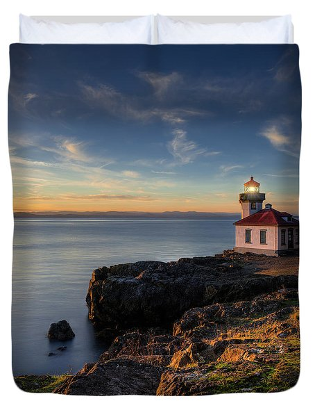 Duvet Cover featuring the photograph San Juan Island Serenity by Dan Mihai