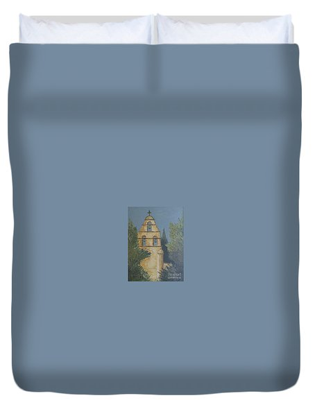 San Juan Mission Duvet Cover by Jeanie Watson