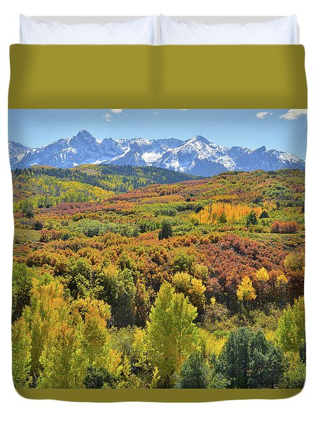Duvet Cover featuring the photograph San Juan Mountains From Dallas Divide by Ray Mathis