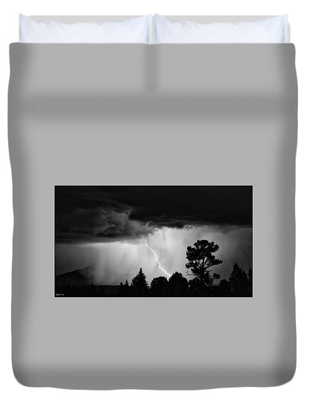 Duvet Cover featuring the photograph San Juan Strike by Kevin Munro