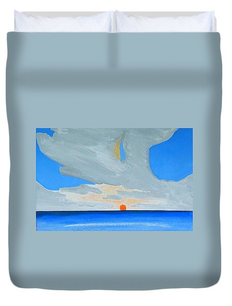 San Juan Sunrise Duvet Cover by Dick Sauer