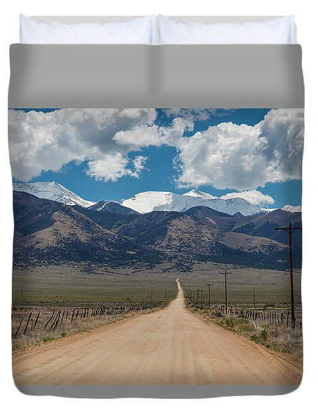San Luis Valley Back Road Cruising Duvet Cover by James BO Insogna