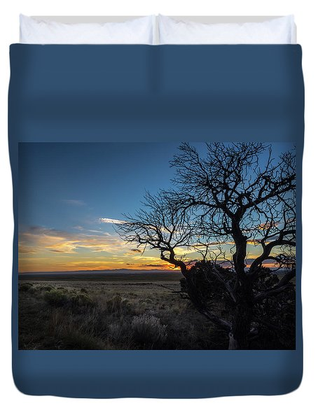San Luis Valley Sunset - Colorado Duvet Cover
