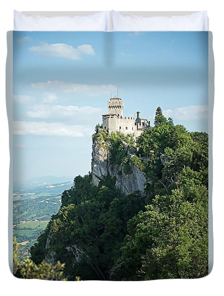 San Marino - Guaita Castle Fortress Duvet Cover