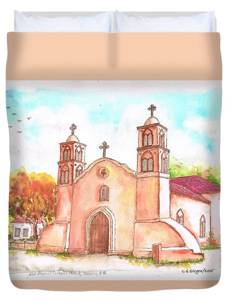 San Miguel Catholic Church, Socorro, New Mexico Duvet Cover