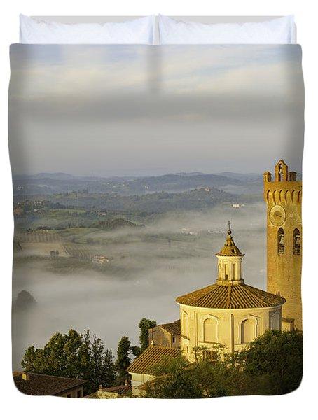 Duvet Cover featuring the photograph San Miniato by Brian Jannsen