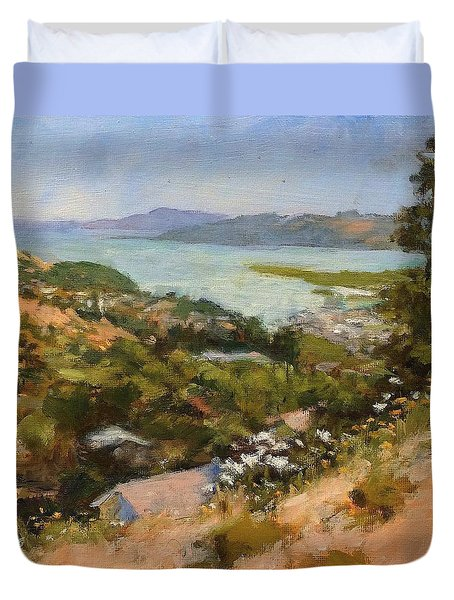 San Rafael Bay From Via La Cumbre, Greenbrae, Ca Duvet Cover