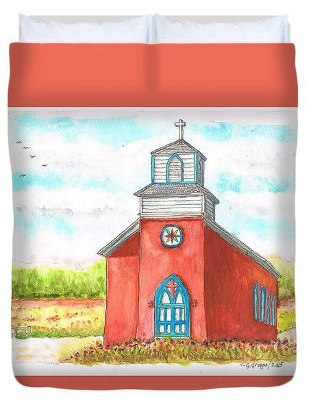 San Rafael Church In La Cueva, New Mexico Duvet Cover