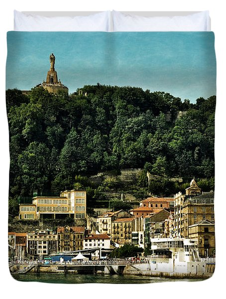 San Sebastian Spain Duvet Cover by Mary Machare