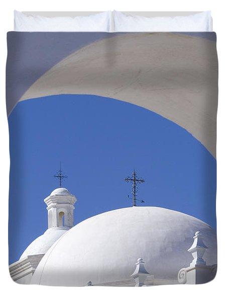 San Xavier Del Bac Duvet Cover by Sandra Bronstein