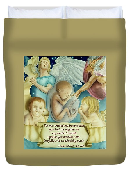 Sanctity Of Life Duvet Cover
