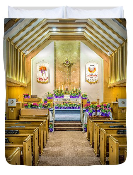 Duvet Cover featuring the photograph Sanctuary At Easter by Nick Zelinsky