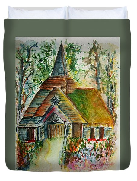 Sanctuary In The Thicket Duvet Cover