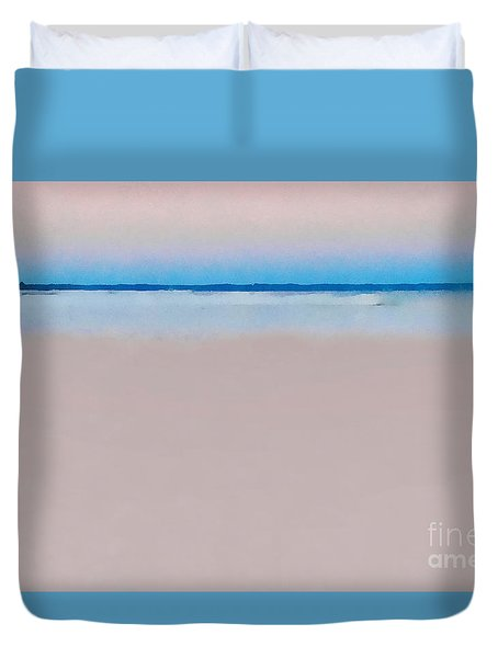 Sand And Sea Duvet Cover by Andrea Kollo