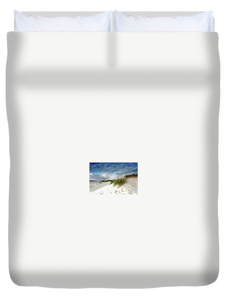 Sand And Surfing Duvet Cover