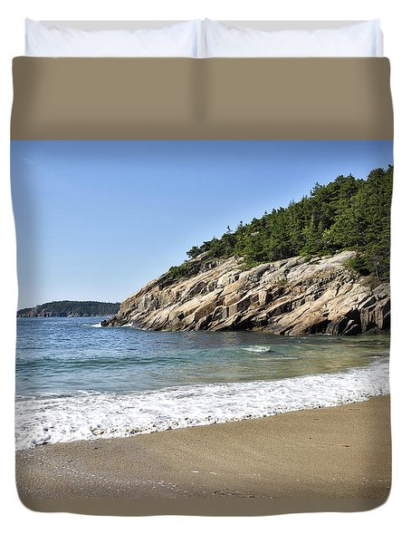 Sand Beach - Acadia National Park - Maine Duvet Cover