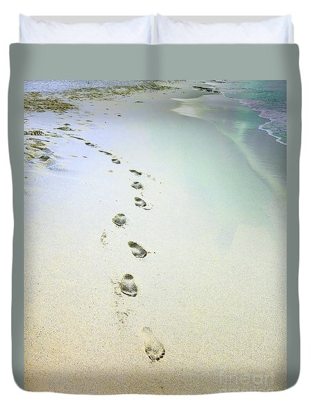 Duvet Cover featuring the photograph Sand Between My Toes by Betty LaRue