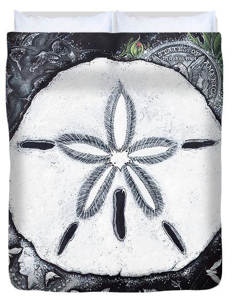 Sand Dollars Duvet Cover by Scott and Dixie Wiley