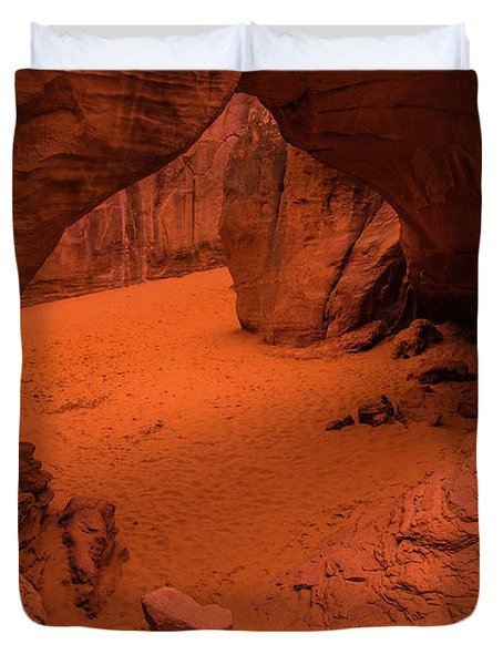 Sand Dune Arch - Arches National Park - Utah Duvet Cover