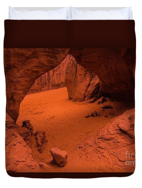 Duvet Cover featuring the photograph Sand Dune Arch - Arches National Park - Utah by Gary Whitton
