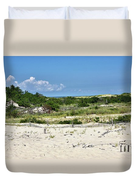Duvet Cover featuring the photograph Sand Dune In Cape Henlopen State Park - Delaware by Brendan Reals