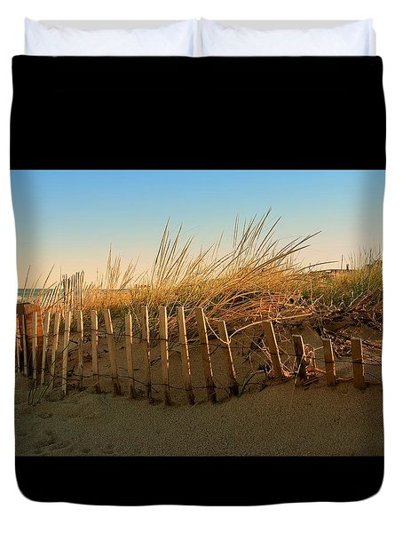 Sand Dune In Late September - Jersey Shore Duvet Cover