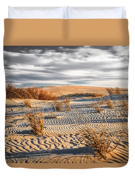 Sand Dune Wind Carvings Duvet Cover