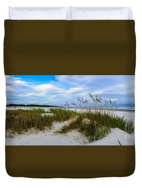 Sand Dunes And Blue Skys Duvet Cover