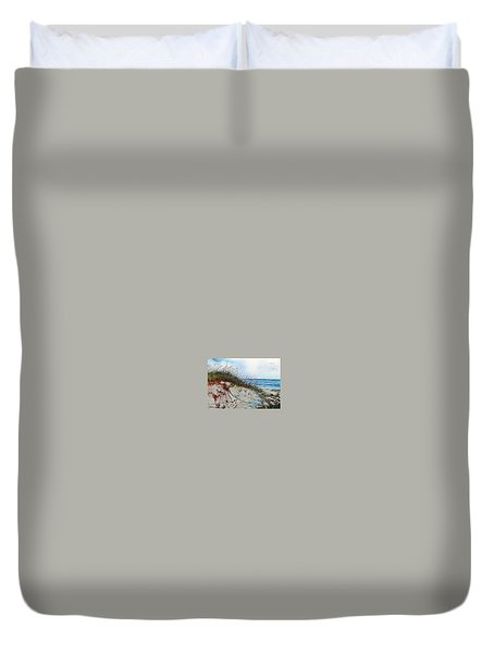 Sand Dunes And Sea Oats Duvet Cover