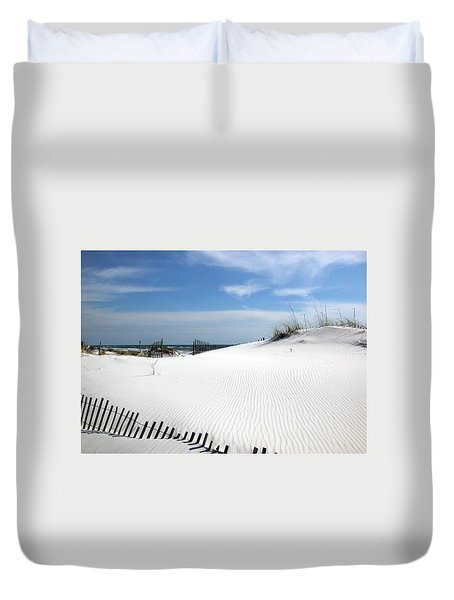Duvet Cover featuring the photograph Sand Dunes Dream by Marie Hicks