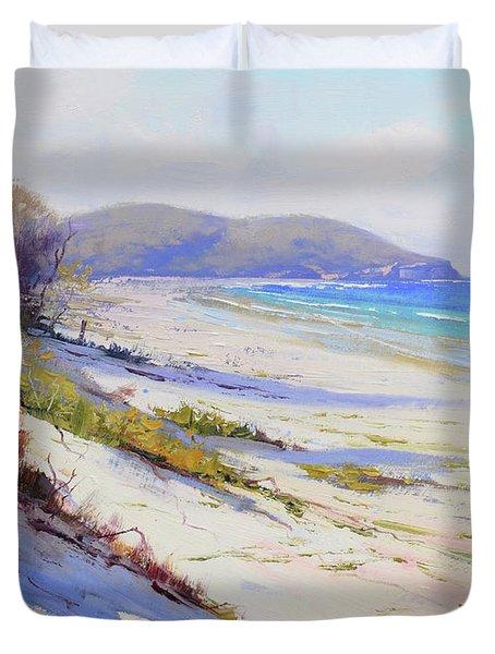 Sand Dunes Port Stephens Nsw Duvet Cover