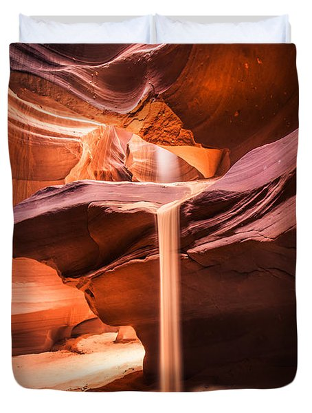 Sand Falls In Antelope Canyon Duvet Cover