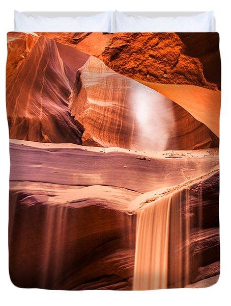 Sand Falls Vertical Duvet Cover