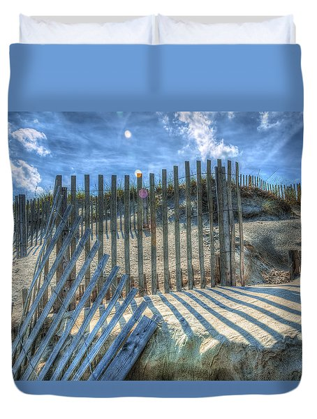 Sand Fence Duvet Cover