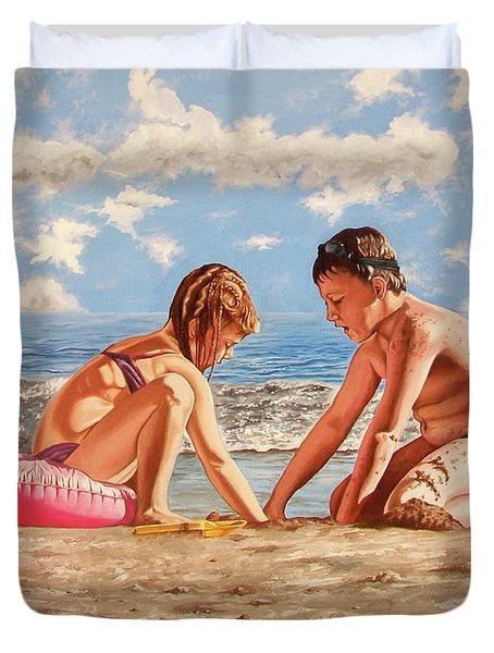 Sand Grains - Granos De Arena Duvet Cover